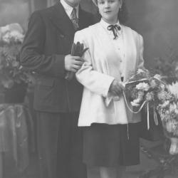 Huwelijksfoto Georges Martin en Anna Vermote