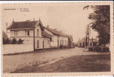 Het station, Ingelmunster, ca 1905