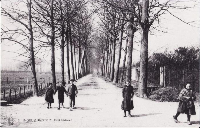 Beukendreef, Ingelmunster, ca 1905