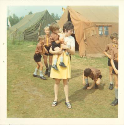 De scouts op kamp