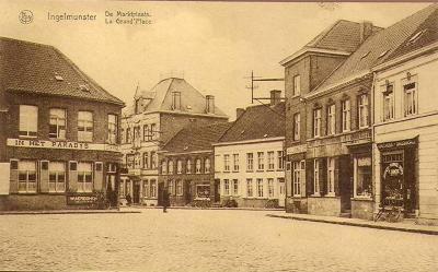 Zicht op de Marktplaats, Ingelmunster, ca 1935
