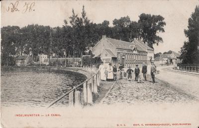 De Vaart, Stationsstraat, Ingelmunster, ca 1905