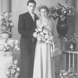 Huwelijksfoto Roger Olivier en Maria Greton