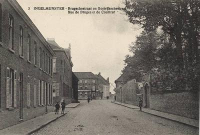 Ingelmunster Brugschestraat en Kortrijkschestraat - Rue de Bruges et Courtrai, ca 1910