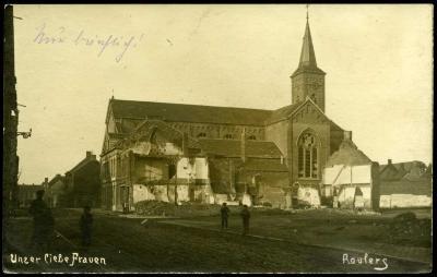 Beschadigde Onze-Lieve-Vrouwkerk, Roeselare