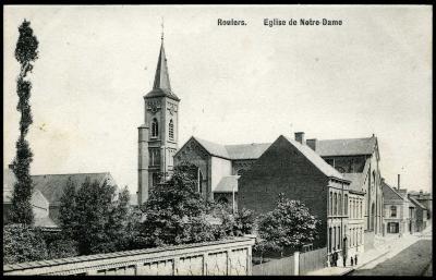 Zicht op de Onze-Lieve-Vrouw kerk, Roeselare