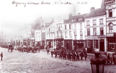 Begrafenis Luitenant Becker, Roeselare 12 december 1915