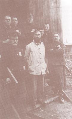 Krijgsgevangenen, o.a. Isodore Bostoen uit Roeselare, in Göttingen (D)