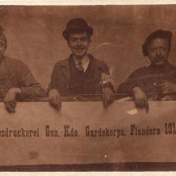 Personeel verkleed als Duitsers, Izegem 1918