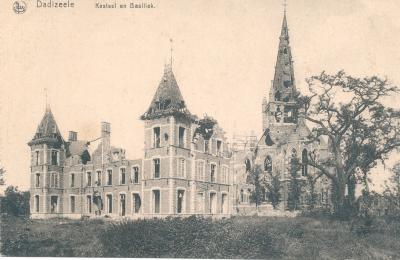 Kerk en kasteel tijdens WOI, Dadizele