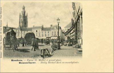 St Michielskerk en grote Markt, Roeselare