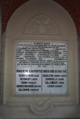 Oorlogsmonument gesneuvelden Eerste Wereldoorlog, Dadizele 1930
