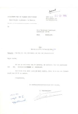 Dossier bouwaanvraag diepwaterput VTI, Roeselare, 1984