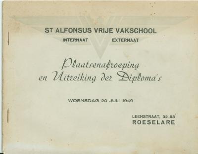 Diploma VTI, Roeselare, 1949-1951-1952