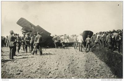 Neergestort vliegtuig aan Vijfwegen, Dadizele 9 juni 1917