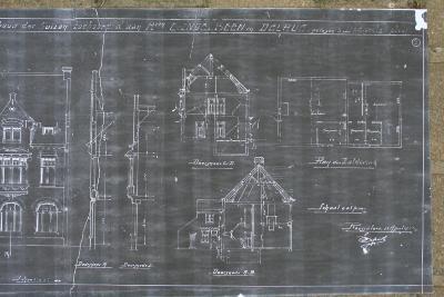 Plannen heropbouw huis C. Ingelbeen en Delrue, Dadizele