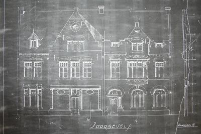 Plannen wederopbouw Dadizele 1920