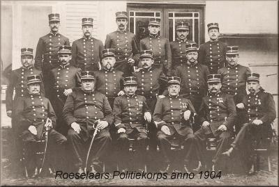 Politiekorps anno 1904, Roeselare