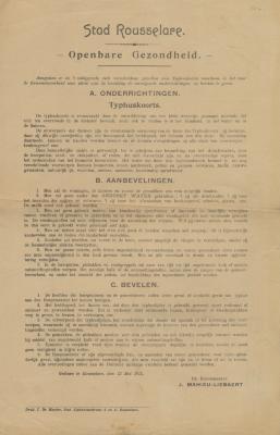 Aanbevelingen en bevelen van tyfeuze koorts
