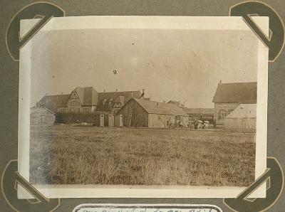 Overzichtsfoto station en H.E.A., Adinkerke 2 augustus 1915