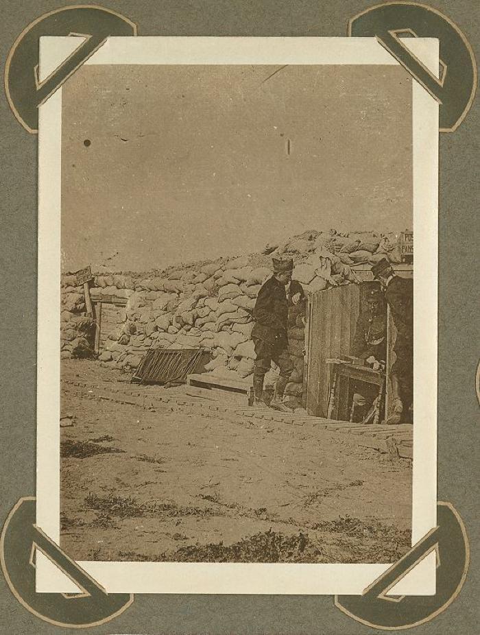 Schuilplaats van dokter van 8ste linie, zone Ramskapelle, 20 september 1915