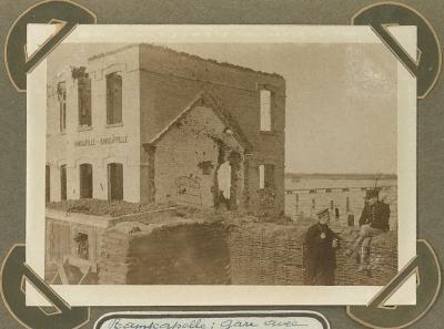 Station Ramskapelle tijdens overstroming, 22 september1915