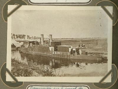 Kanonneerboot op kanaal naar Duinkerke, 20 september 1915