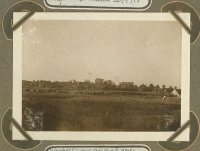 Panoramafoto genomen vanaf brug, Nieuwpoort 20 september 1915