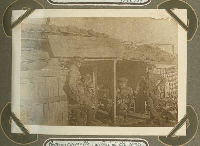 Schuilplaats bij station, Ramskapelle 22 september 1915