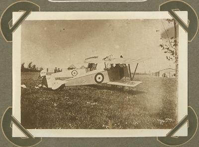 Landing van vliegtuig, Veurne 25 september 1915