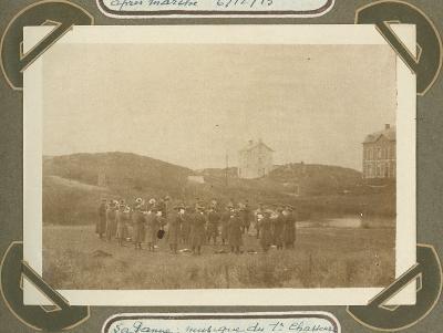 Muziekkorps 1ste jagers, De Panne 8 november 1915