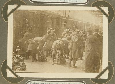 Aankomst mariniers, Adinkerke 7 oktober 1915