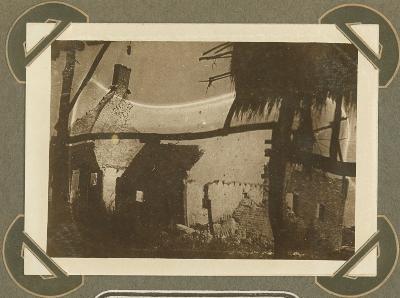 Effect van sneeuwbui in Cabourg, Adinkerke 25 januari 1916