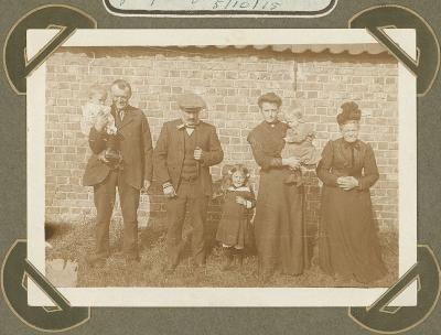 Familiefoto, Adinkerke 5 oktober 1915