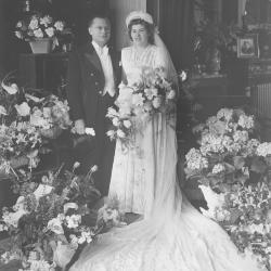 Huwelijksfoto Achiel Kemp en Gaby Clement