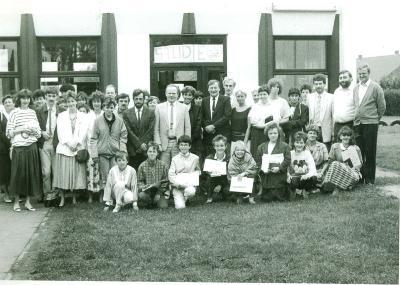 Diploma-uitreiking 6de klassers, Lichtervelde, 27 juni 1987