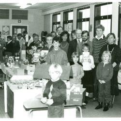 Tentoonstelling in de basisschool, Lichtervelde, 1986
