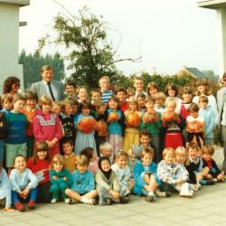 Pompoenenoogst, Lichtervelde, september 1986