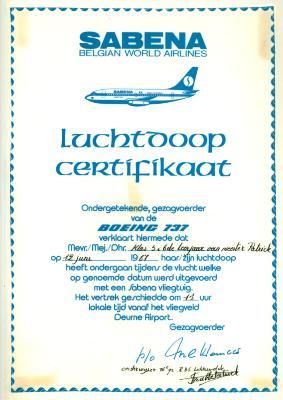 Luchtdoop 5de en 6de jaar meester Patrick, Lichtervelde, 12 juni 1986
