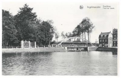De Vaartbrug, nu Centrumbrug, Ingelmunster, ca 1930