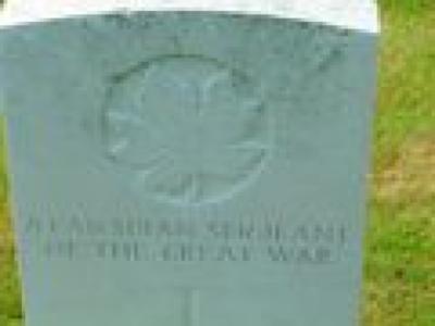 Graf van een onbekende Canadese sergeant