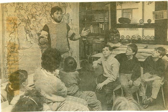 Bezoek van Zinnia-matroos Patrick Casier, Lichtervelde, januari 1988
