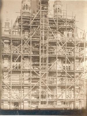 Herbouw kerk Dadizele rond 1920