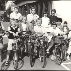 Met de fiets op school, Lichtervelde, 1982-1983(?)