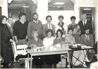 Kaarting op school, Lichtervelde, 30 november 1985