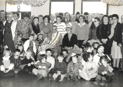 Grootouderfeest kleuterschool, Lichtervelde, november 1985