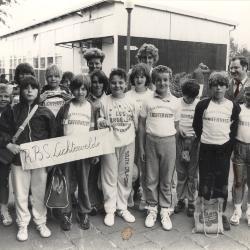 Klaar voor wandeltocht in Kortemark, 11 juni 1986