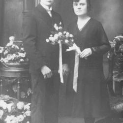 Huwelijksfoto Hyppolite Vierstraete en Gabriëlle Corteville