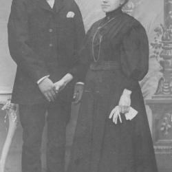 Huwelijksfoto Victor Corteville en Julienne Seynaeve