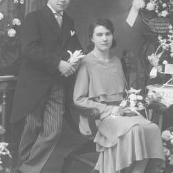 Huwelijksfoto Maurice Huysentruyt en Marie Kesbeeck